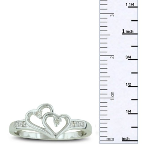 Your 1 Source for Jewelry and Accessories Double Heart Diamond Promise Rin