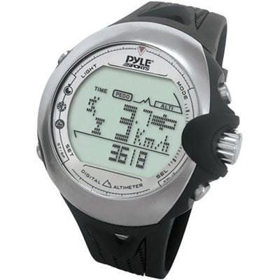 Pyle PSKI2 Skiing Digital Watch with Clock, Ski Mode, Altimeter, Barometer, Compass, Tide, Thermometer and Timer Running Gps