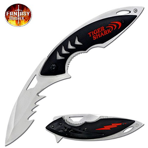 "Fantasy Master ""Tiger Shark"" Ao Folding Knife - 8.5 Inches"