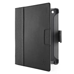 Belkin Cinema Leather Folio Case with Stand, no Magnet for the Apple iPad with Retina Display (4th Generation) & iPad 3 (Black)
