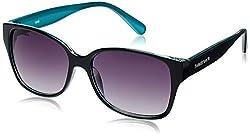 Fastrack Springers Rectangular Sunglasses (Black and Sea Green) (P289BK1F)