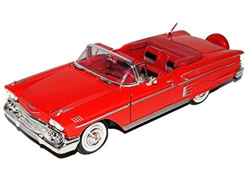 chevrolet-chevy-impala-cabrio-rot-offen-1958-oldtimer-1-24-motormax-modell-auto