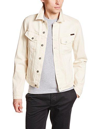 nudie-jeans-homme-veste-en-jean-selvedge-billy-beige-pour-homme-xl