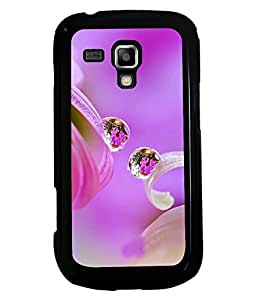 PRINTVISA Water Drop With Premium Metallic Insert Back Case Cover for Samsung Galaxy S Duos S7562 - D5916