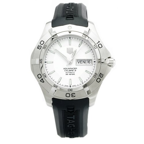 Laptimer 2000 >> @@ Best Buy TAG Heuer Men's WAF2011.FT8010 Aquaracer 2000 Calibre 5 Automatic Rubber Strap Watch ...