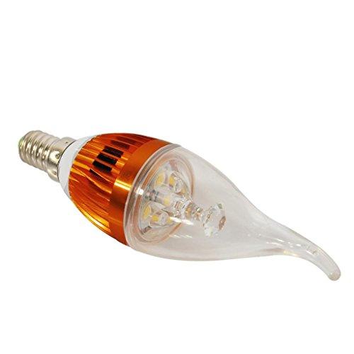 High Power Energy Saving Overclocking Lights Warm White Gold 9W E14 Led Candle Light Bulb