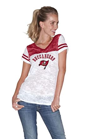 NFL Tampa Bay Buccaneers the Coop Football Top In Burnout Team Colors Ladies by Touch