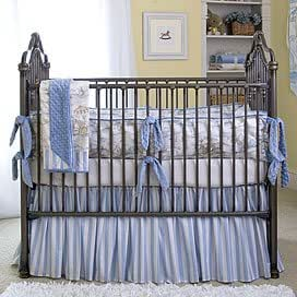 Traditional Iron Crib in Vintage Silver