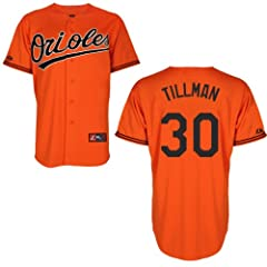 Chris Tillman Baltimore Orioles Alternate Orange Replica Jersey by Majestic by Majestic