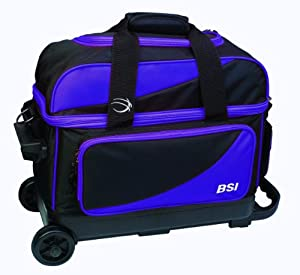 BSI Double Ball Roller Bowling Bag, Black/Purple