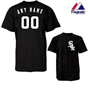 Chicago White Sox Personalized Custom (Add Name & Number) 100% Cotton T-Shirt... by Authentic Sports Shop