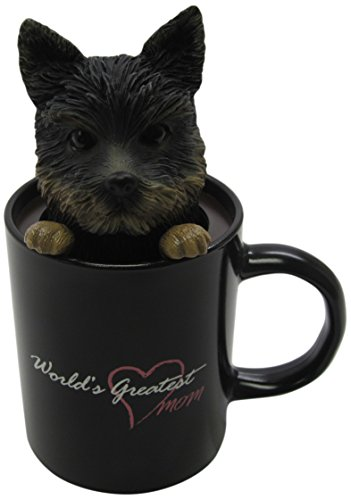 Idea Max Peek-A-Pet Bobble Heads Worlds Greatest Mom Yorkshire Terrier (Mug)