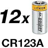 de.power CR123A - Batterie al litio, 12 pz