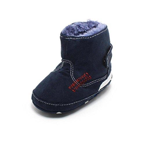 Kingko® Infantili Snow Boots morbida suola prewalker pattini della greppia del bambino di inverno pattini caldi (3~6 mesi)