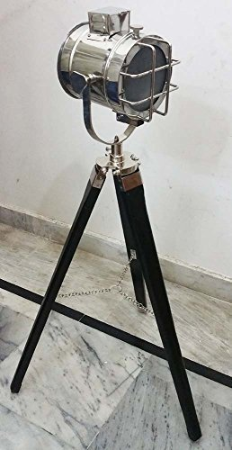 Shiv-Shakti-Enterprises-Royal-Designer-Nautical-Studio-Lamp-Search-Light-With-Black-Modern-Tripod-Table-Lamp-Spotlight