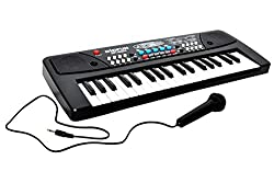 Sunshine 37 Key Piano Keyboard Toy with DC Power Option, Recording and Mic