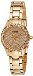 GUESS Mini Pixie Analog Gold Dial Womens Watch - W0230L3
