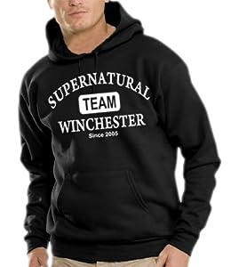 Supernatural - Team Winchester Kapuzen Sweatshirt - Pullover Black, S
