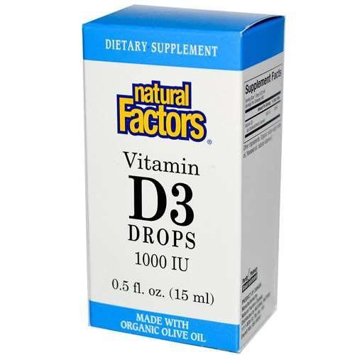 Natural Factors Vitamin D3 Drops 1000Iu .5Oz