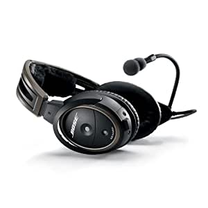 Bose® A20 Aviation Headset (Aircraft-powered w/Bluetooth, Electret mic, Straight cord, 6-pin plug)