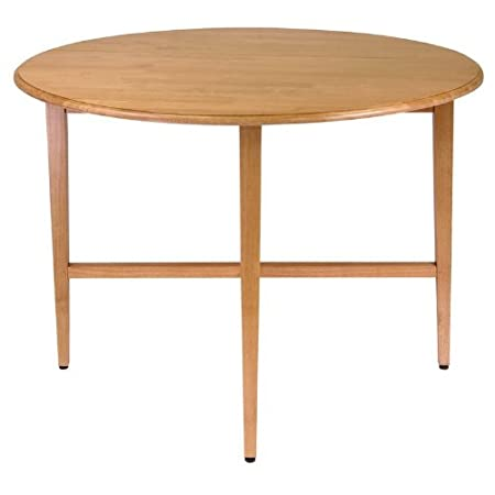 "Light Oak Hannah Round 42"" Double Drop Leaf Gate leg Table"