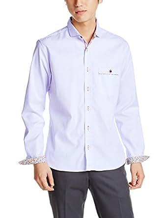 (メンズメルローズ) MEN'S MELROSE ダイヤジャガードシャツ A0461FB 205 03 ラベンダー 3