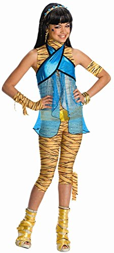 Monster High - Cleo de Nile Child Costume, Blue/Gold, Child Large