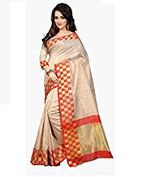 Gopalvilla Womans Red Color Art Silk Saree