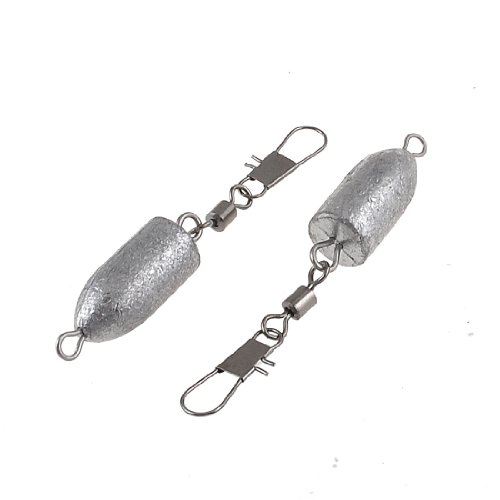 Como 9# Angling Fish Line Lure Lead Weight Bank Fishing Sinkers w Hook Shank 2 Pcs