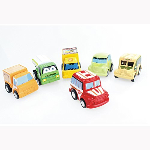 eBuy 6 Pieces/set Car & Truck Pullback Toy Cars, Assorted Classic Mini Car Baby Toy, Gift for Children - 1