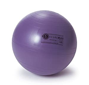 SISSEL Securemax® Exercise Pilates Yoga Ball - 65 Cm (Blue-purple) from SPM Supplies