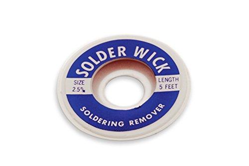 New Aven 17542 Desoldering Wick, 2.5mm Width, 5' Length (3 Pack)