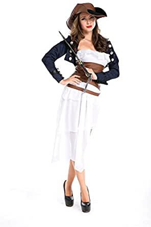 Nanxson(TM) Women's Gothic Adult Pirate Maiden Costume EXW0008