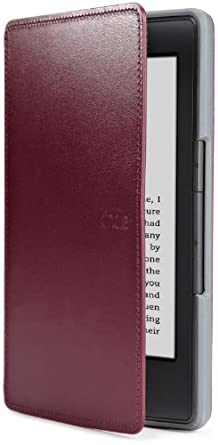 Funda de cuero Amazon para Kindle, color púrpura (sólo sirve para el Kindle)