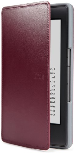 Amazon Kindle Leather Cover, Wine Purple (does
