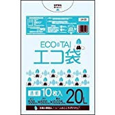 ゴミ袋 20L 500x600x0.025厚 透明  10枚 LLDPE素材