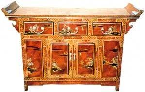 Cheap Beautiful Asian Furnishings – 60″ Oriental Lacquer Buffet Cabinet (LCQ-CB-HA1868)