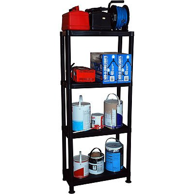 4 Tier Plastic Shelving Storage Unit Rack