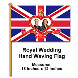 Royal Wedding Hand Waving Flag