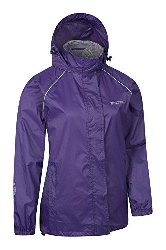 Mountain Warehouse Damen Pakka Leicht Wasserdichte Versiegelte Nähte Regenschutz Jacke Mantel Neu Violett DE 42 (EU 44) -