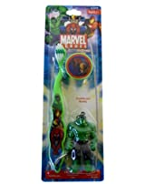 Incredible Hulk Toothbrush - Marvel Hulk Travel Toothbrush With Mini Figurine And Cap
