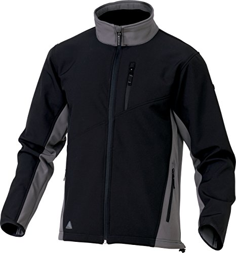 Panoply Lulea da uomo giacca Softshell Black With Grey Trim M/ 99 cm- 107 cm