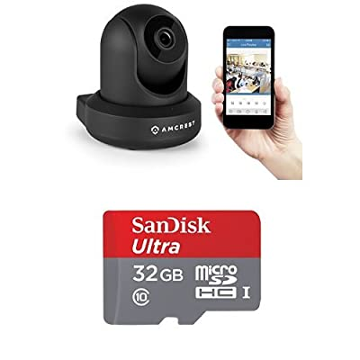 Amcrest ProHD 1080P WiFi Wireless IP Security Camera with 32gb SanDisk SD Card