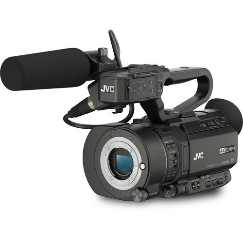 JVC GY-LS300CHU Ultra 4K HD 4KCAM Super 35 Pro Camcorder & Top Handle Audio Unit