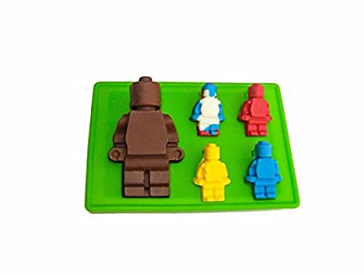 GoojTM Silly Candy Molds & Ice Cube Trays - Lego Building Bricks and Figures - With Free Bonus Gummies Recipe on the Box