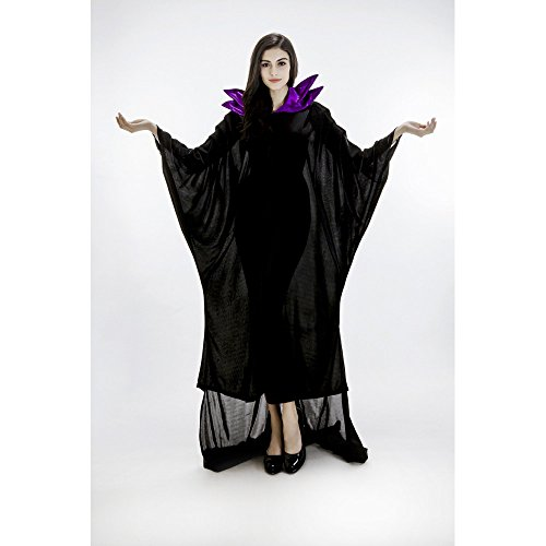 Faermi Women's Maleficent Christening Black Gown Costume