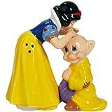 Westland Giftware Snow White Kissing Dopey Magnetic Ceramic Salt and Pepper Shaker Set, 4.25-Inch