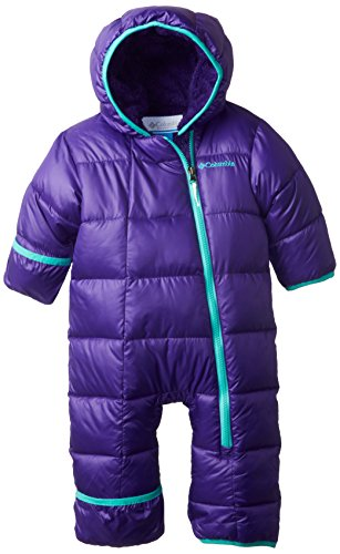 Columbia Baby-Girl Newborn Frosty Freeze Bunting, Hyper Purple/Oceanic, 3/6