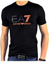 Ea7 Emporio Armani - Tee Shirt Manches Courtes - Homme - Train Graph Tee - Noir Orange