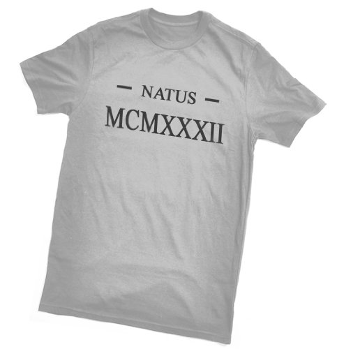 Natus MCMXXXII T-Shirt (Born 1932 in Latin /